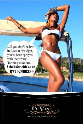 Tanning advert